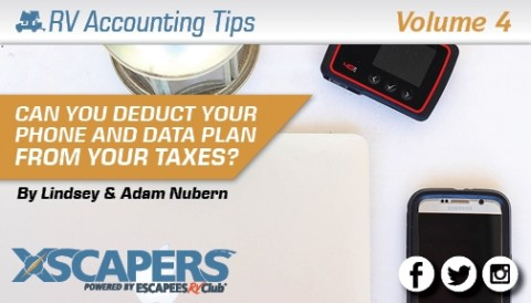 RV Accounting Tips - Can you Deduct Your Phone and Data Plan from Your Taxes?