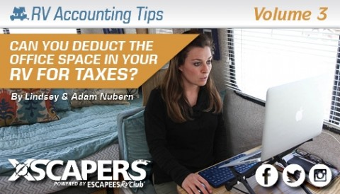 RV Accounting Tips - Can You Deduct the Office Space in Your RV on your Taxes?