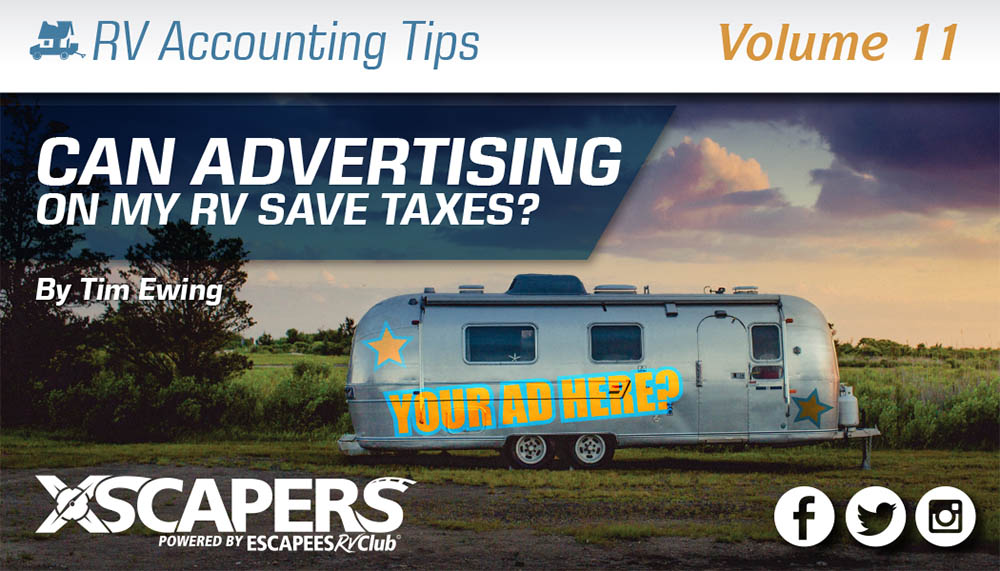 RV Accounting Tips - Can Advertising on my RV Save Taxes?