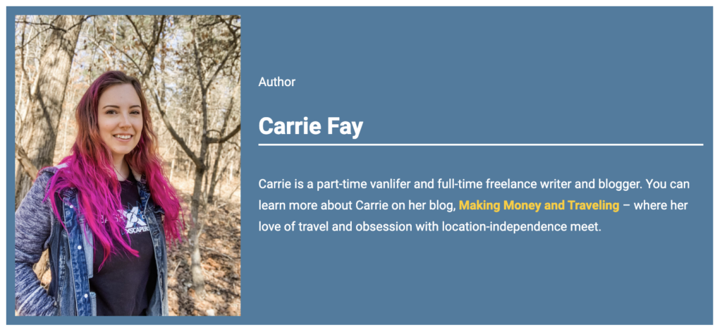 Author Bio Carrie Fay