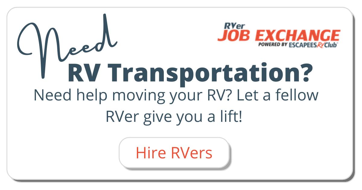 RV Transportation Snippet